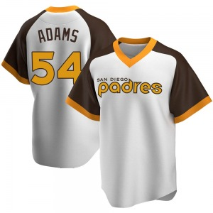 Youth San Diego Padres Austin Adams White Home Cooperstown Collection Jersey - Replica