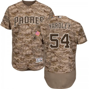 Youth Majestic San Diego Padres Eric Yardley Camo Flex Base Alternate Collection Jersey - Authentic