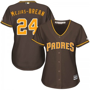 Women's Majestic San Diego Padres Seth Mejias-Brean Brown Cool Base Alternate Jersey - Authentic