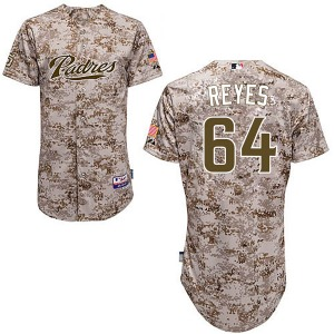 Men's Majestic San Diego Padres Gerardo Reyes Camo Cool Base Alternate Jersey - Authentic