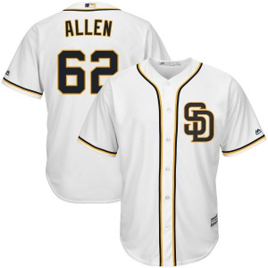 Youth Majestic San Diego Padres Austin Allen White Cool Base Alternate Jersey - Replica