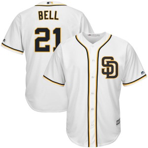 Youth Majestic San Diego Padres Heath Bell White Cool Base Alternate Jersey - Replica