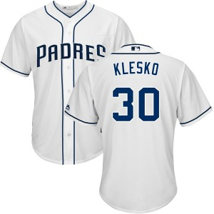 Men's Majestic San Diego Padres Ryan Klesko White Cool Base Home Jersey - Authentic