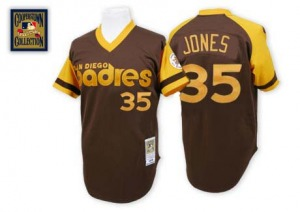 Men's Mitchell and Ness San Diego Padres Randy Jones Brown Throwback Jersey - Replica
